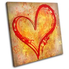 Heart Grunge Yellow Red LOVE - 13-0214(00B)-SG11-LO